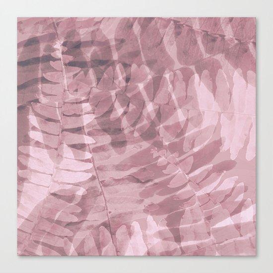 FERN PATTERN - PINKS Canvas Print