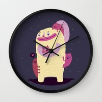 mother Wall Clocks featuring Mother by Maria Jose Da Luz