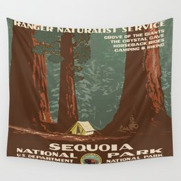 Vintage poster - Sequoia National ParkX Wall Tapestry