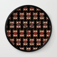 givenchy Wall Clocks featuring Givenchy mask by cvrcak