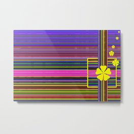 GRAPHIC POP of FLOWERS Metal Print