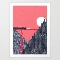 bridge Art Prints featuring Railroad Bridge by Ryo Takemasa