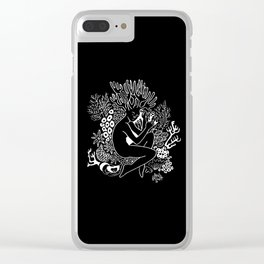 Resting Coral Clear iPhone Case