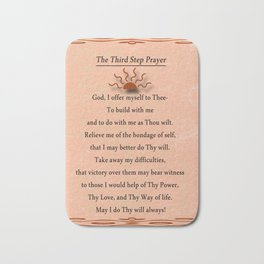 Third Step Prayer Bath Mat