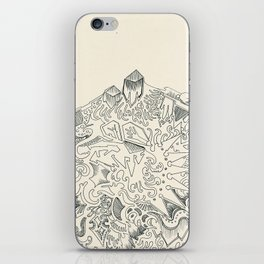Psychedelic Bunny Mountain iPhone Skin