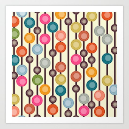 mocha chocca candy bubbles Art Print