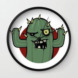 Zombie cactus Wall Clock