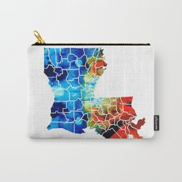 Louisiana Map - State Maps By Sharon Cummings Carry-All Pouch