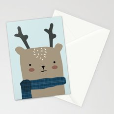 Reindeer in the Winter Stationery Cards