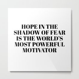 hope in the shadow Metal Print