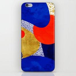 Terrazzo galaxy blue night yellow gold orange iPhone Skin