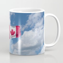 Maple Leaf Flag Flying High Coffee Mug