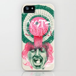 "Screaming Lord Sutch ""VOTE SUTCH"" - The Punk Loons. iPhone Case"