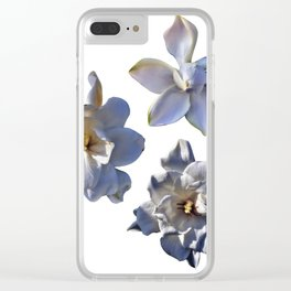 3 White Gardenias [Cecilia Lee] Clear iPhone Case