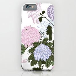 Cute chrysanthemus I love you iPhone Case