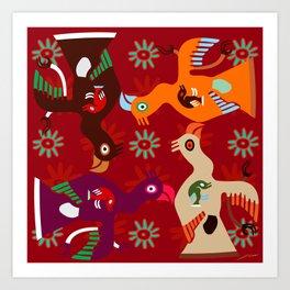 Paracas Pop II Art Print