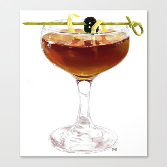 Game Set Match cocktail Canvas Print