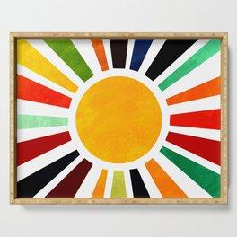 Sun Retro Art Serving Tray