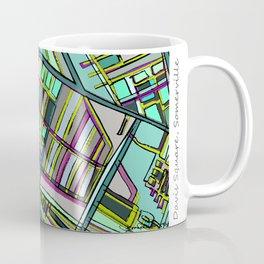 Abstract Map- Davis Square, Somerville MA Coffee Mug