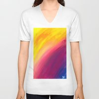 skyfall V-neck T-shirts featuring Skyfall by Sierra Christy Art
