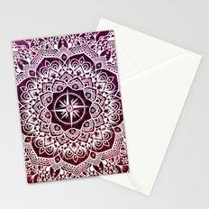 Voyaging Spirit Purple Red Mandala Stationery Cards
