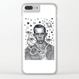 Dorf The Intergalactic Inquisitor from Planet X Clear iPhone Case
