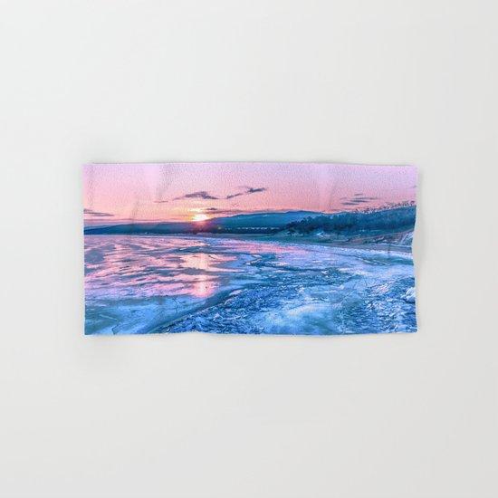 Baikal sunrise Hand & Bath Towel