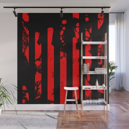 Blood Bars Geometric Black And Red Stripes Pattern Paint Splat