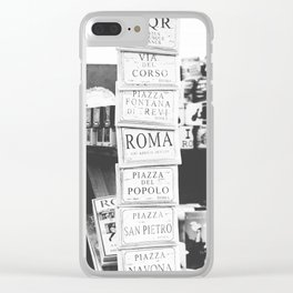 Art tiles in Rome Clear iPhone Case