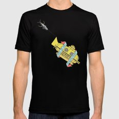This Is An Adventure | The Life Aquatic with Steve Zissou LARGE Mens Fitted Tee Black