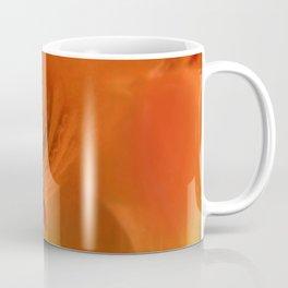 Columbine Flower Edited Orange Coffee Mug