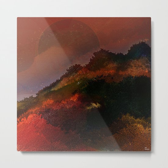 The hill of three pines Metal Print