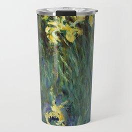 """Claude Monet """"Yellow irises"""" Travel Mug"""