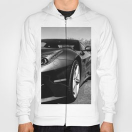 Super Car // Front Wheel Base Low Rims Dark Charcol Gray Black and White Hoody