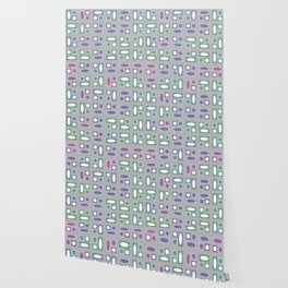 Colorful Groovy Funky Pattern Wallpaper