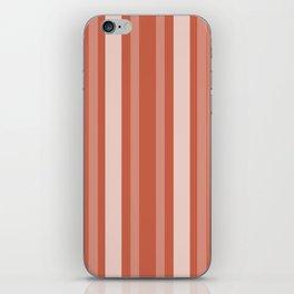 Dark Coral Victorian Lady Stripe iPhone Skin
