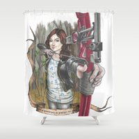 allison argent Shower Curtains featuring Allison Argent - We protect those who cannot protect themselves by MonsterFromTheLAke