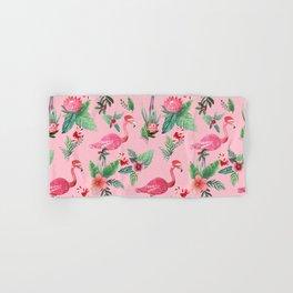 Santa Flamingo Santa Christmas // Holidays Hand & Bath Towel