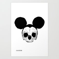 Dead Mickey Mouse Art Print