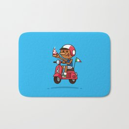 Italy! Pinocchio Eat Pizza and Ride Vespa Bath Mat