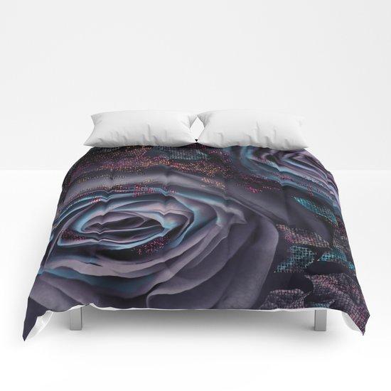 Purple roses. Comforters