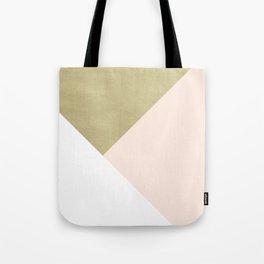 Gold meets Blush & White Geometric #1 #minimal #decor #art #society6 Umhängetasche