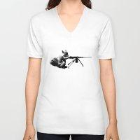 patriotic V-neck T-shirts featuring Patriotic Squirrels by TypicalArtGuy