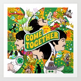 Come Together (Green and Yellow) Art Print