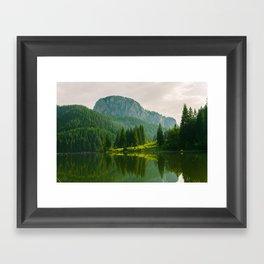 Red Lake, Romania Framed Art Print