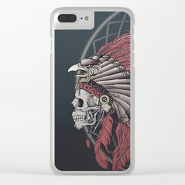 Eagle Skull Clear iPhone Case