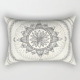 Antler Mountain Mandala Rectangular Pillow