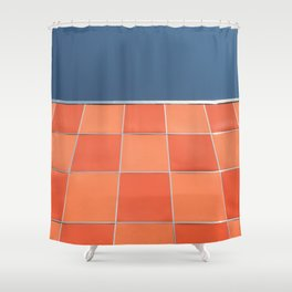 check it out ! mid century facade Shower Curtain