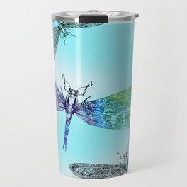 Dragonflies and Blue Skies Travel Mug