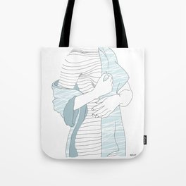 line drawing of a beautiful model Tote Bag